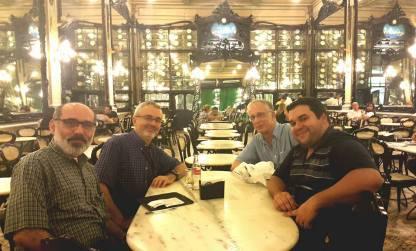 MusMat Research Group: coordinators at Confeitaria Colombo: Liduino Pitombeira, Pauxy Gentil-Nunes, Carlos Almada, Daniel Moreira